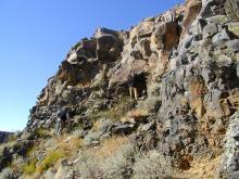 Photo by Anne Meltzer. (Basalt flows north of Tariat)